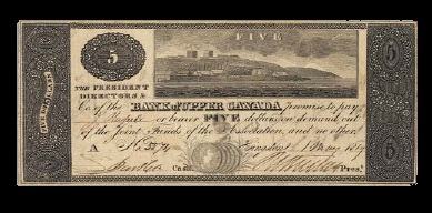 Canada 1819 First Bank Note