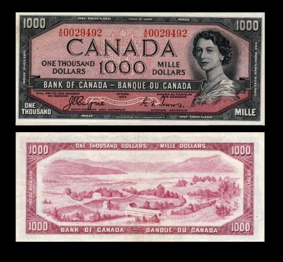 Canada 1954 $1000