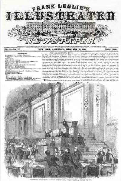 Fran Leslie 1858 Congress Brawl