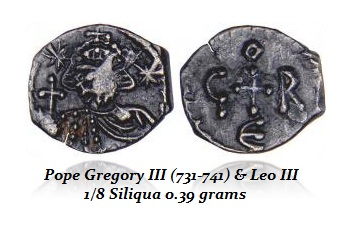 Gregory 3 - Eighth Siliqua ,39 grams
