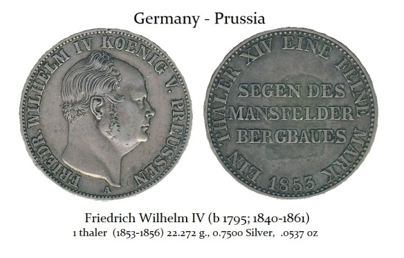 Wilhelm IV 1853 Thaler